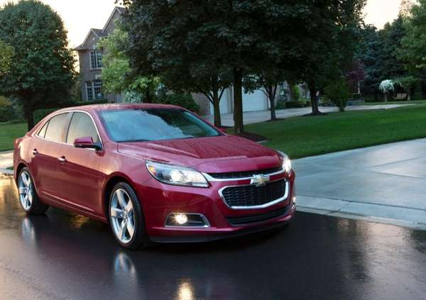 The 2014 Chevrolet Malibu, which starts at almost