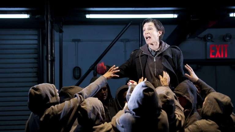 Harriet Walter and ensemble in