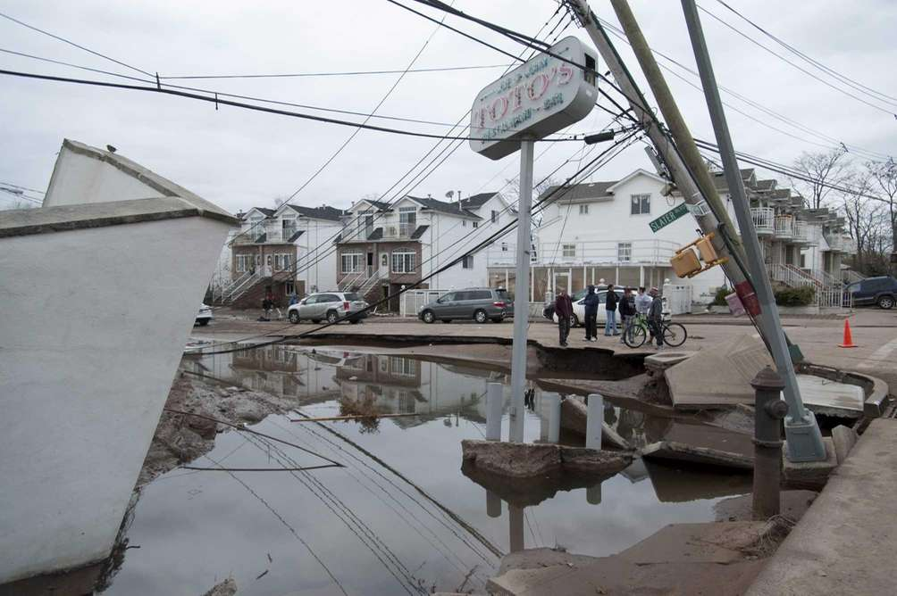 Two days after superstorm Sandy struck Staten Island,