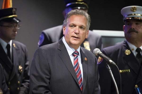 Nassau County Executive Edward Mangano hosts a press