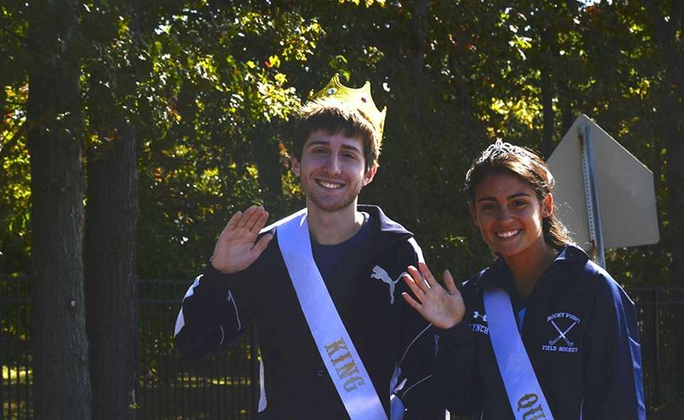Rocky Point homecoming king, Mike Rotunno, 17, and