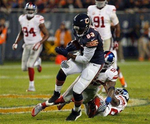 Chicago Bears tight end Martellus Bennett (83) is