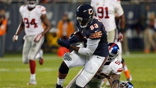 Chicago Bears tight end Martellus Bennett (83) is