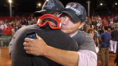 Boston Red Sox general manager Ben Cherington, right,