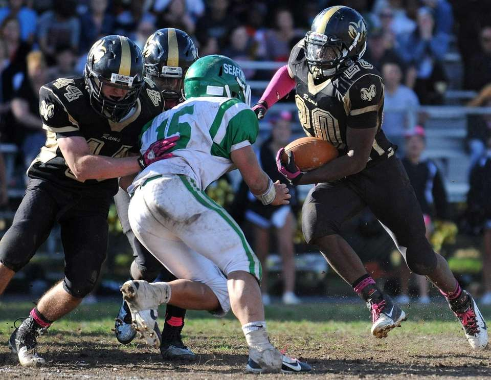 West Hempstead running back Enrique McFarlane (no. 20)