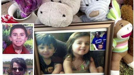 Jennifer McCusker, 41, left, of Shirley, and her