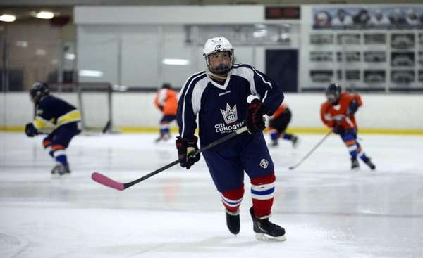 Robert Zanolla skates for the Brooklyn-based Aviators Hockey