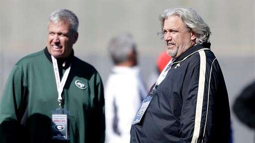 Rex Ryan, left, and his brother Rob Ryan,