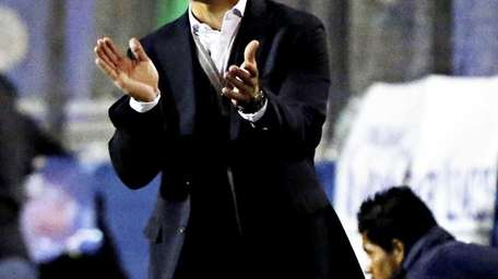 Cosmos head coach Giovanni Savarese is seen during