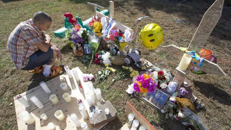 Will Morales, of Shirley, a neighbor and friend,