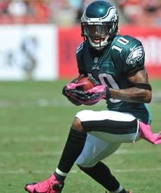 Wide receiver DeSean Jackson of the Philadelphia Eagles