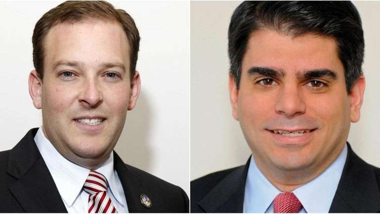 (L-R) New York State Senator Lee Zeldin and