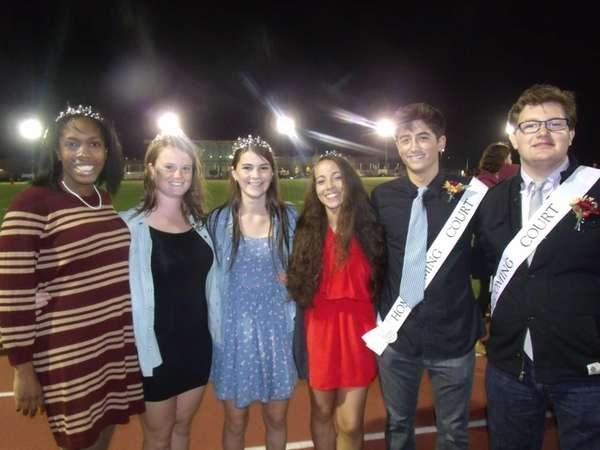 From left, East Hampton High School homecoming king