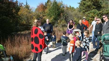 Participants enjoy the Enchanted Forest Trail at the