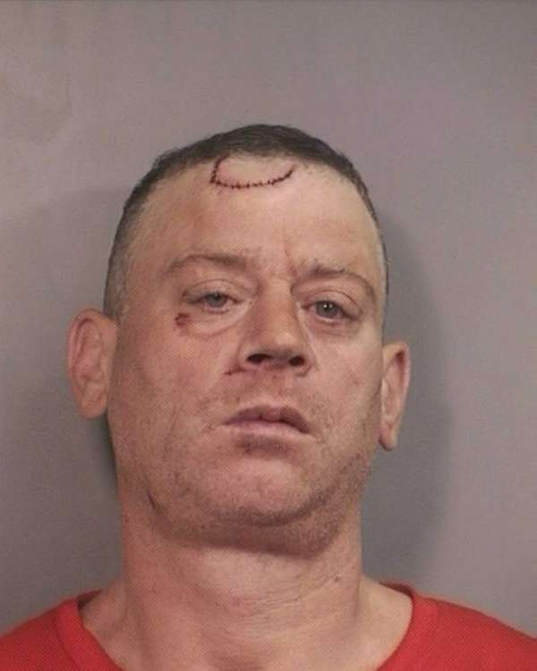 James Howley, 43, homeless, allegedly attacked someone who