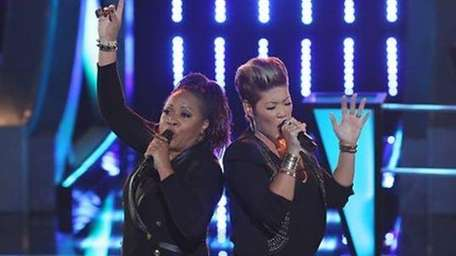 Donna Allen and Tessanne Chin compete in the