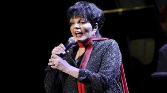 Liza Minnelli performs at the Royal Festival Hall