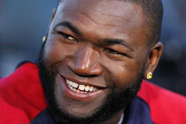 Boston Red Sox's David Ortiz smiles during an