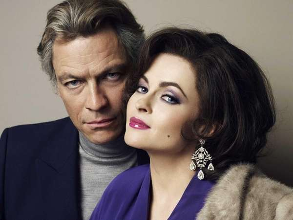 Richard Burton (Dominic West) and Elizabeth Taylor (Helena