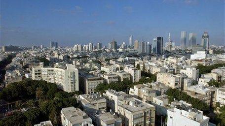 Downtown Tel Aviv, where in 2013 technology seems