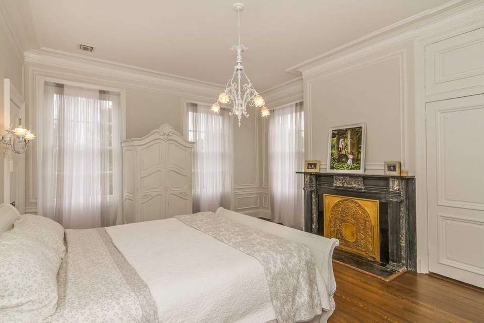 The restored master bedroom in the renovated High