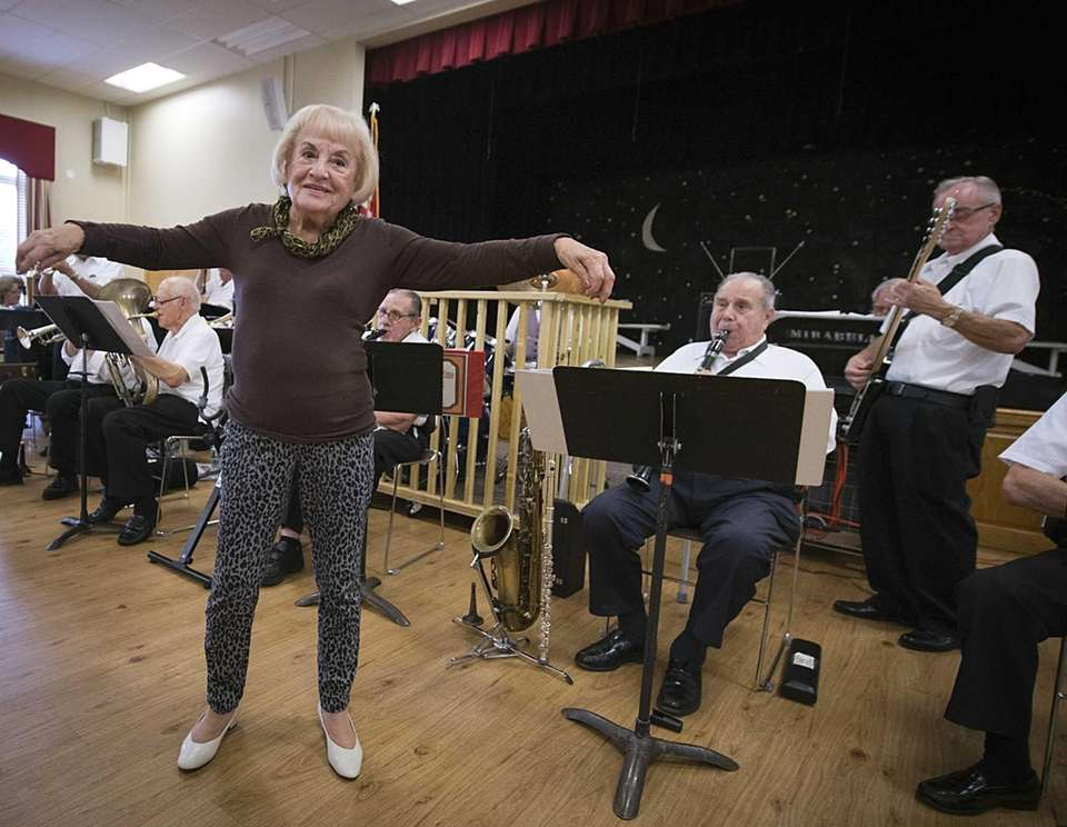 Jo Varano, 89, cuts a rug while the