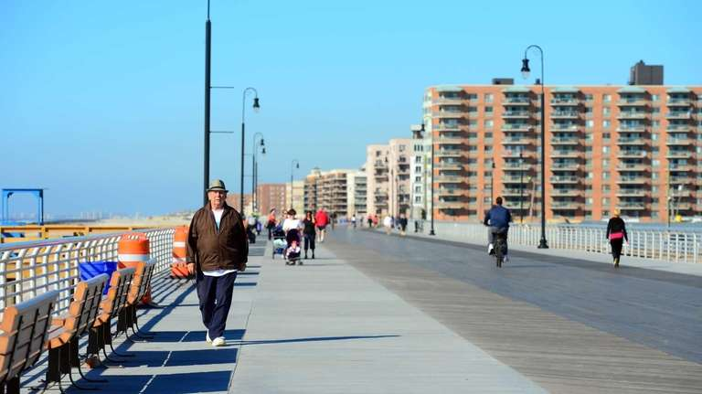 A finished part of the Long Beach boardwalk
