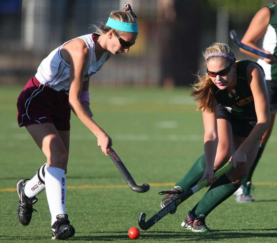 Ward Melville's Olivia Zanzone and Bay Shore's Samantha