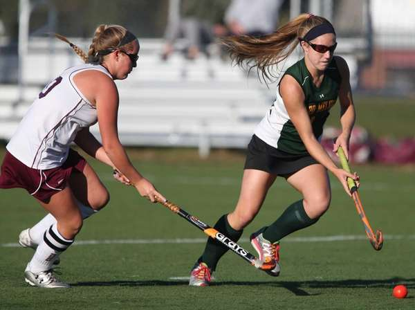 Kelsey Catalano of Ward Melville moves the ball