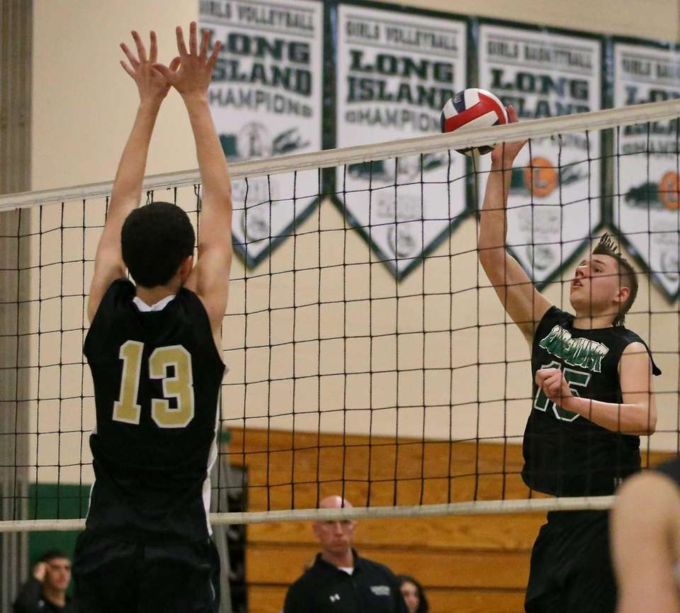 Lindenhurst's Kenneth Serwan looks to put the shot