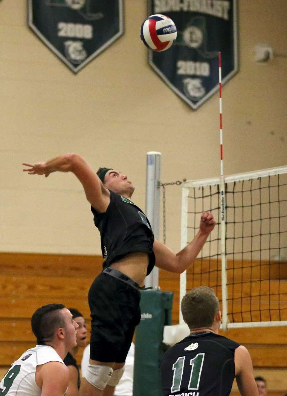 Lindenhurst's Ryan McDonough goes for the kill shot