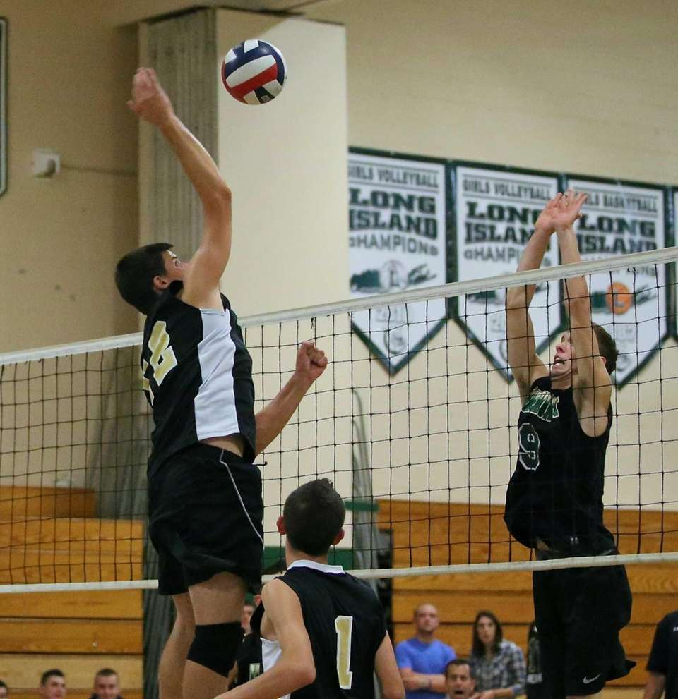 Sachem North's Dylan Missry goes for the kill