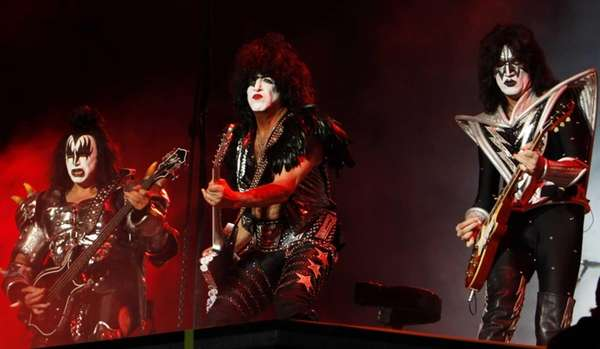 Kiss, from left, Gene Simmons, Paul Stanley and
