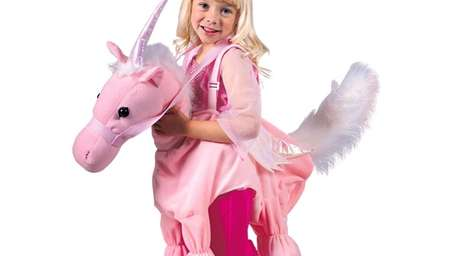 Girl's Pink Ride A Unicorn Costume This costume