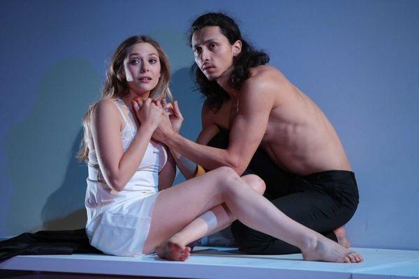 Elizabeth Olsen and Julian Cihi in