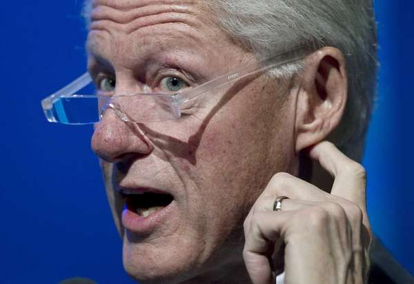 Former President Bill Clinton speaks at the Clinton