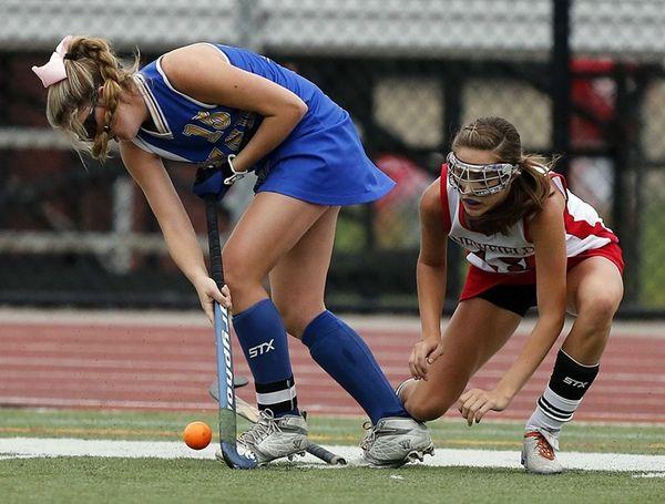 West Islip's Kiera Kelly controls the ball along
