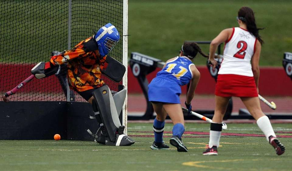 West Islip's Justine DeLuca follows the winning shot