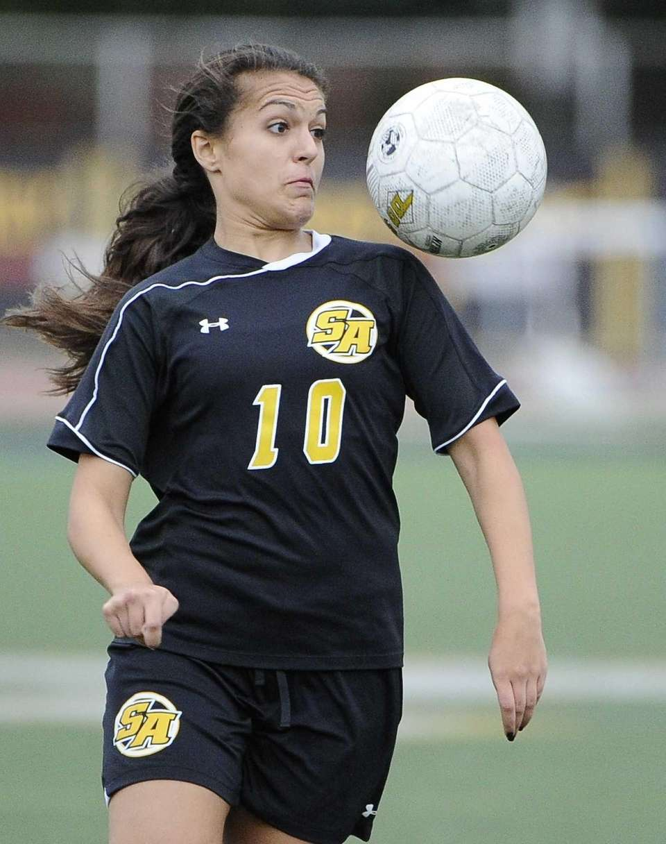 St. Anthony's Michelle Santangelo keeps her eye on