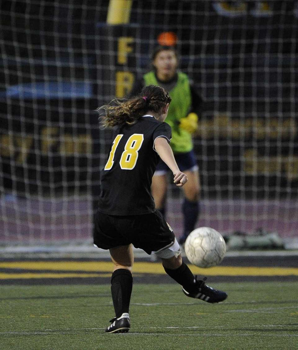 St. Anthony's Katie Goncalves takes a shot on