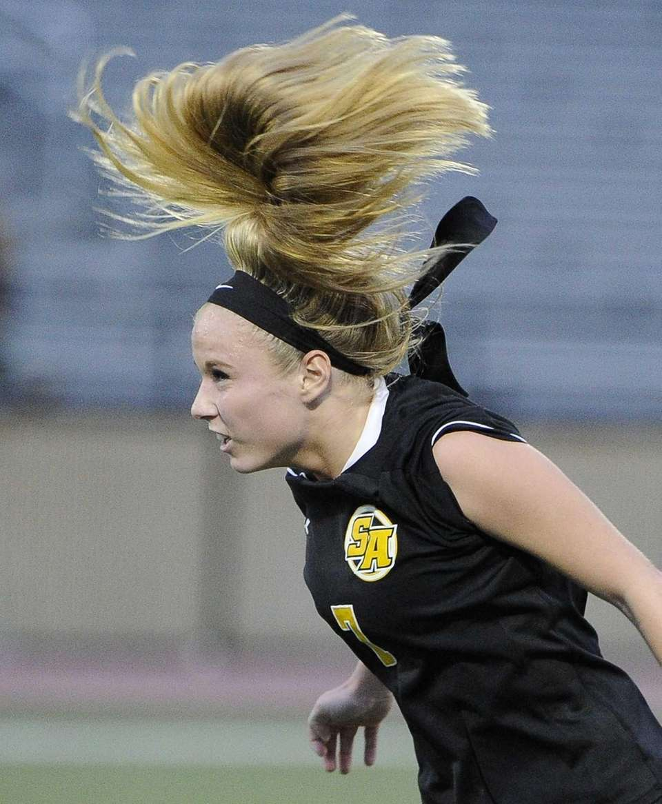 St. Anthony's MacKenzie Kober is seen after she