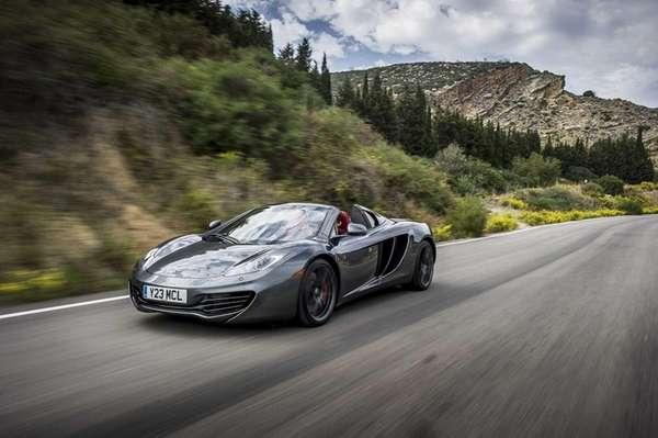 The 2014 McLaren 12C Spider has 616 horsepower