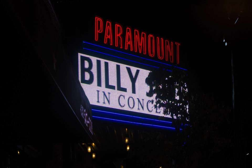 The marquee at the Paramount. (Oct. 16, 2013)