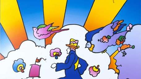 The works of Peter Max, whose psychedelic works,