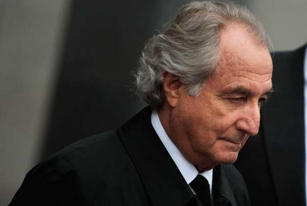 Disgraced financier Bernard Madoff leaves federal court in