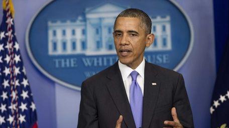 President Barack Obama speaks about the government shutdown