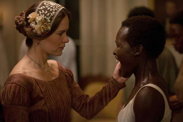 Sarah Paulson, left, and Lupita Nyong'o in a