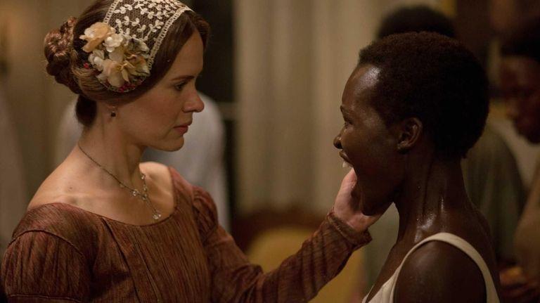 Sarah Paulson, left, and Lupita Nyong'o in a