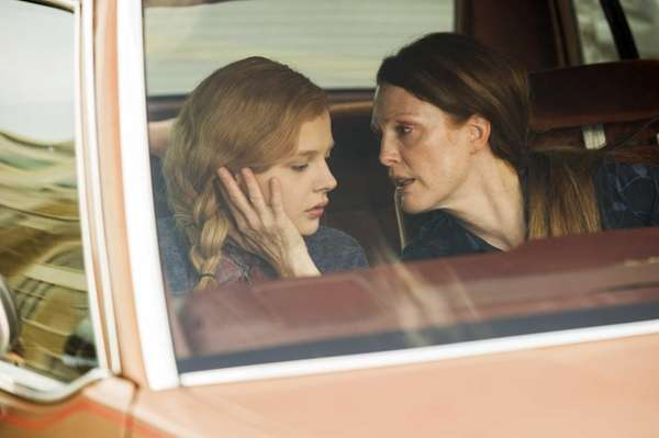 Chloe Moretz, left, and Julianne Moore in a