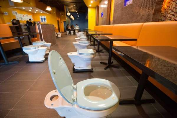 Los Angeles' bathroom-themed restaurant, Magic Restroom Cafe. (2013)